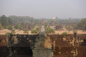 Der Ausblick von der obersten Etage in Angkor Wat