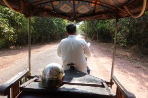 In unserem Tuktuk