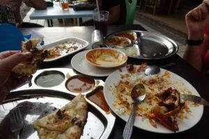 Indisch essen - diesmal danach