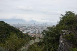 Ausblick von den Marble Mountains nach Danang