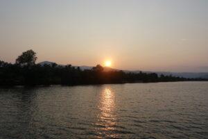 Sonnenuntergang in Kampot