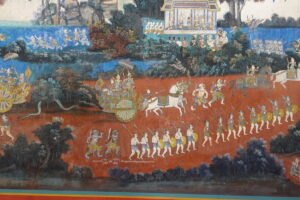 Wandgemälde im Königspalast Phnom Penh
