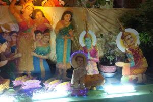 Wat Ounalom. Das ist der junge Buddha, nicht Jesus!